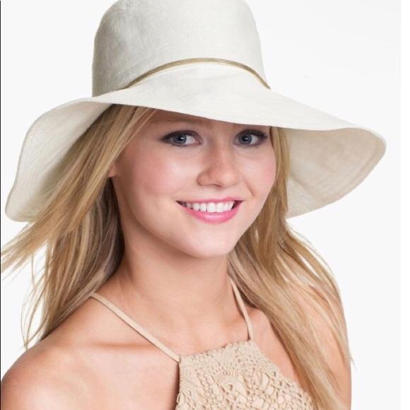 5ee4a01ae Helen Kaminski 100% Linen Hat Boho Festival